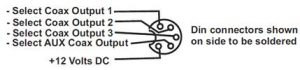 1x4 Coax Diagram